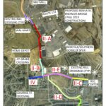 Map of Christiansburg extensions of Huckleberry Trail
