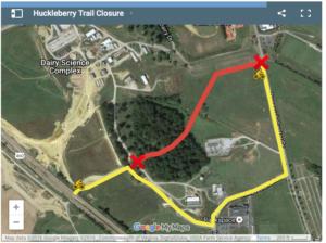 Map of trail detour