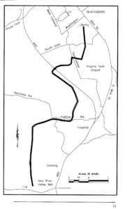 High-level map of trail from NRV Bicycle Assoc.
